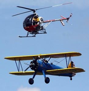 格林在试图表演移身到直升机的时候失去控制