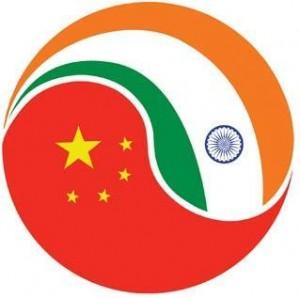 中国和印度国旗:祝福中印友好