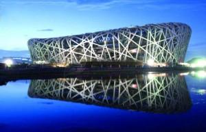 印度人在北京旅游:鸟巢