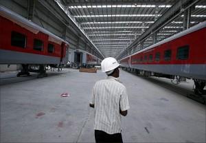 印度北方邦一家机车厂