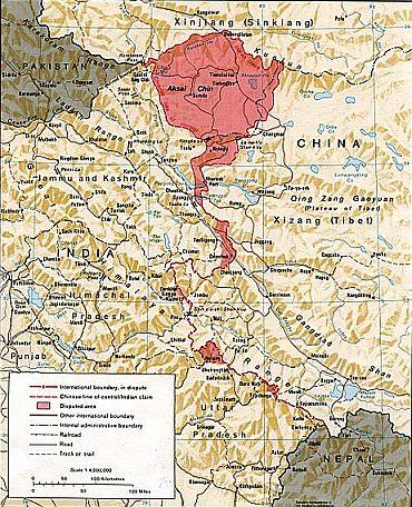 印度人看1962年中印战争:中印边界西段地图