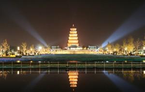 印度人在中国西安旅游:大雁塔(Wild Goose Pagoda)