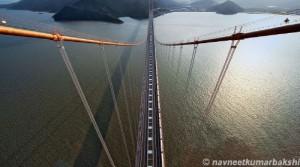 印度人在中国舟山旅游:西堠门大桥