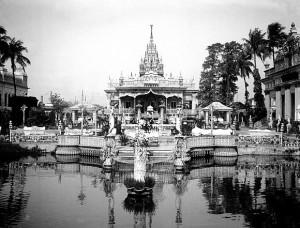 印度罕见照片,加尔各答耆那教庙宇