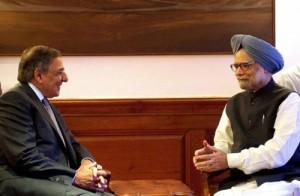 美国国防部长帕内塔访问印度,与印度总理辛格举行会谈