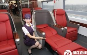 中国高铁、大陆高铁、动姐、高铁头等舱