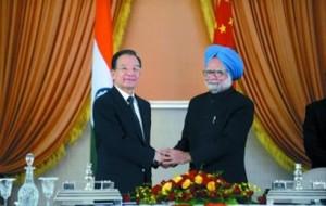 印度总理辛格和中国总理温家宝
