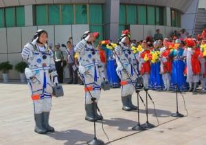 中国三名宇航员:景海鹏、刘旺、刘洋