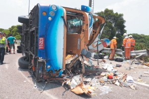 大陆游客在台湾又遇车祸