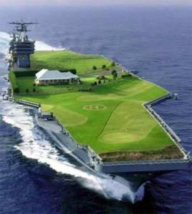 航母上的高尔夫球场