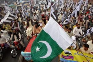 巴基斯坦人在拉哈尔举行反印抗议游行