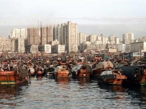 40年前的香港维多利亚港