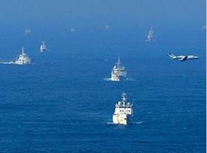 多艘中国船只进入钓鱼岛海域