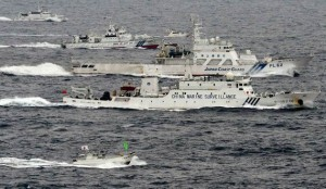 中国8艘海监船进钓鱼岛海域维权