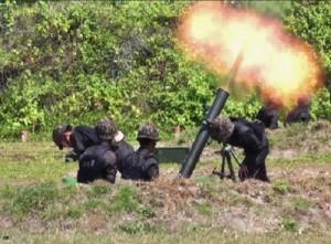 太平岛火炮射击